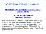 cmgt 410 aid predictable world 3