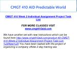 cmgt 410 aid predictable world 6