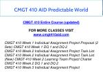 cmgt 410 aid predictable world