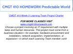cmgt 410 homework predictable world 8