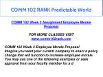 comm 102 rank predictable world 10