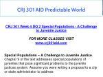 crj 301 aid predictable world 11