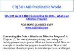 crj 301 aid predictable world 14