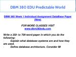 dbm 380 edu predictable world 8