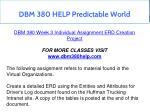 dbm 380 help predictable world 25