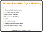 modules involved in digital marketing