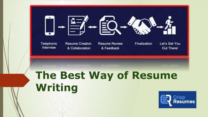 the best way of resume writing n.
