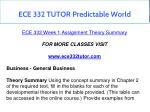 ece 332 tutor predictable world 13