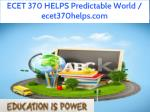ecet 370 helps predictable world ecet370helps com 1