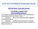 eco 203 tutorials predictable world 4