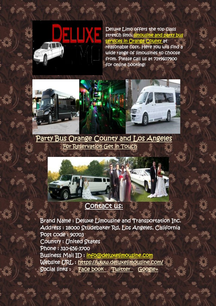 deluxe deluxe limo stretch stretch limo services n.