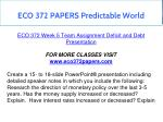 eco 372 papers predictable world 1