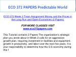 eco 372 papers predictable world 10