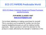 eco 372 papers predictable world 17