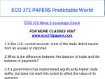 eco 372 papers predictable world 2