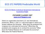 eco 372 papers predictable world 6