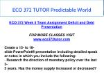 eco 372 tutor predictable world 1
