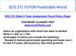 eco 372 tutor predictable world 11