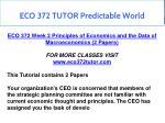 eco 372 tutor predictable world 15
