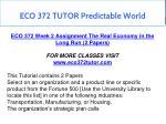 eco 372 tutor predictable world 20