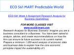 eco 561 mart predictable world 22