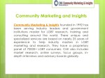 community marketing and insights