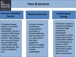 fees services