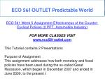 eco 561 outlet predictable world 10