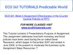 eco 561 tutorials predictable world 10