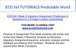eco 561 tutorials predictable world 3