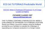 eco 561 tutorials predictable world 5