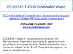 econ 545 tutor predictable world 11