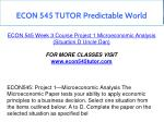 econ 545 tutor predictable world 12