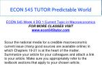 econ 545 tutor predictable world 15