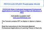 psych 635 study predictable world 2