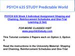 psych 635 study predictable world 4