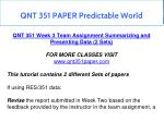 qnt 351 paper predictable world 15