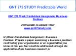 qnt 275 study predictable world 28