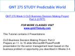 qnt 275 study predictable world 6