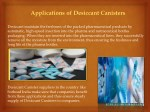 applications of desiccant canisters 1