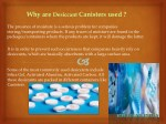 why are desiccant canisters used