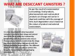 what are desiccant canisters