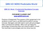 qrb 501 nerd predictable world 4
