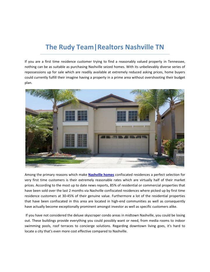 the rudy team realtors nashville tn n.