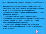 advantages of machine learning with python