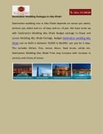 destination wedding packages in abu dhabi