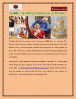 golden wedding anniversary planner