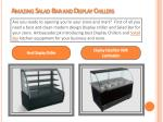 amazing salad bar and display chillers