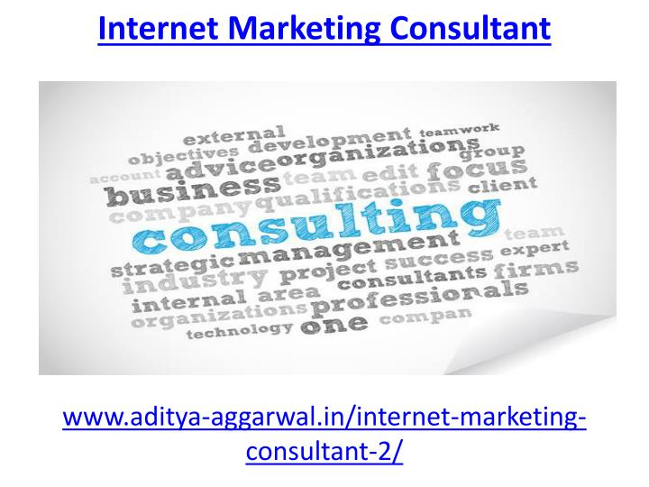 internet marketing consultant n.