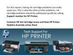 for this reason having ink cartridge problems